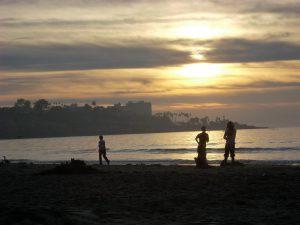 Sunset La Jolla Shores Beach