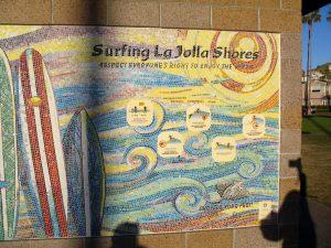 La Jolla Shores Beach Surfing Mural