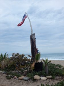 Wooden Flagpole Old Mans Beach