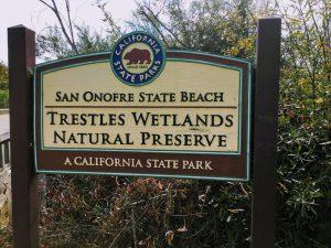 Trestles Wetlands Natural Preserve Sign