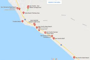 San Onofre State Beach Map