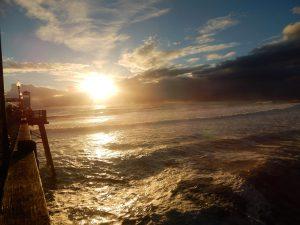 Sunset Oceanside Beach CA,