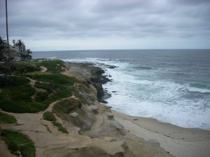 Wipeout Beach la jolla coast walk
