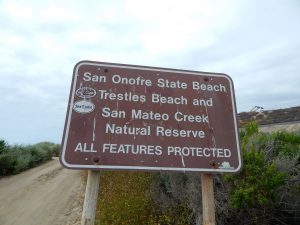 San Onofre State Beach Sign