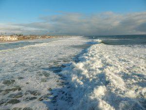 Big waves Oceanside Beach CA