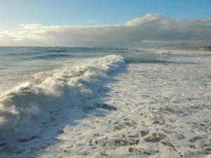 Stormy Waters Oceanside Beach CA
