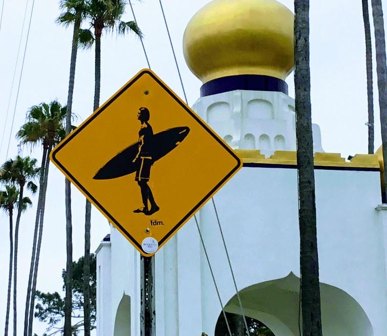 Swamis surfing sign encinitas california