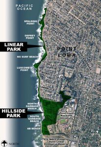 Sunset Cliffs Natural Park Map