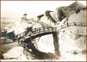 1915 Sunset Cliffs Park bridge handrail walk ways bluff
