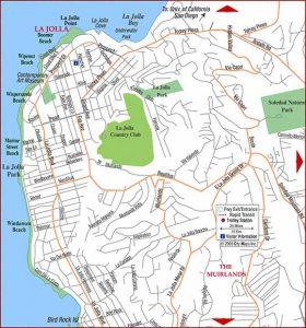 La Jolla Map la jolla coast walk