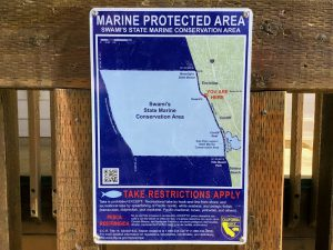 Marine Protected Area Sign Swami's State Beach