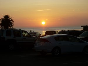 Moonlight Beach Parking Lot Sunset