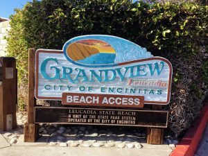 Grandview Beach Access Sign
