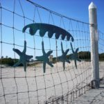 Breakers Beach netting fence starfish decorations
