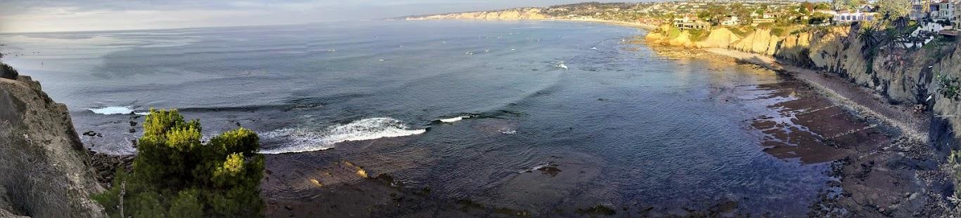 la jolla caves beach pano san diego