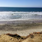South Ponto Beach bluff view rocky sandy shore ocean