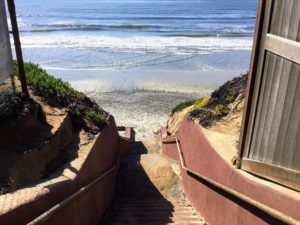 Terramar Beach Stairs Beaches of San Diego County