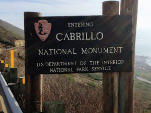 Cabrillo National Monument entrance sign
