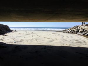 view under bridge Buccaneer Beach