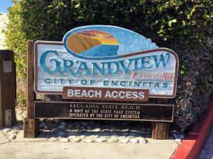 Grandview Beach entrance sign