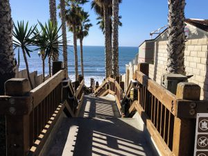 Grandview Beach staircase North County San Diego