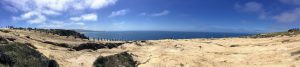 Black's Beach trail panoramic photo