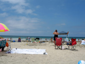 La Jolla Shores Beach sand view