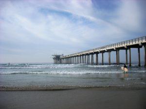 La Jolla Shores Beach surfer sandy