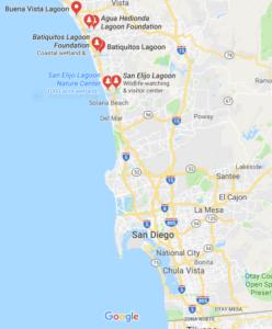 Google Map San Diego Lagoons