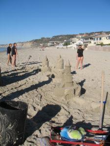 Sand Castles la jolla shores state beach