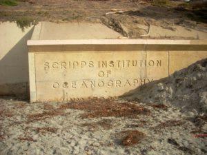 Scripps Institute of Oceanography plaque