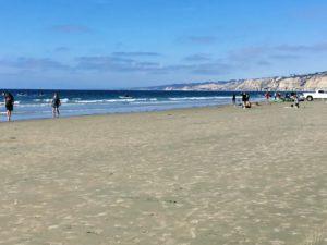 South La Jolla Shores large sandy beach people