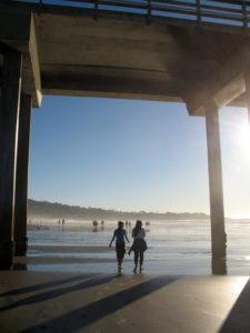Under Scripps Pier La Jolla Shores Beach