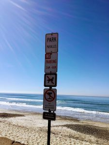 Torrey Pines State Natural Reserve sign