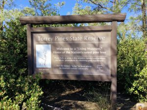 Torrey Pines State Reserve Sign
