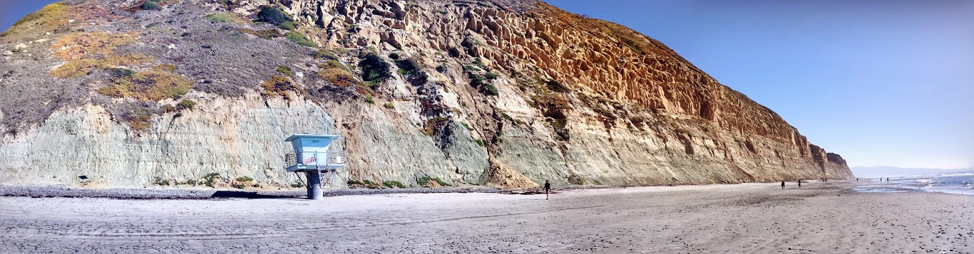 Torrey Pines State Beach Panoramic Bluffs