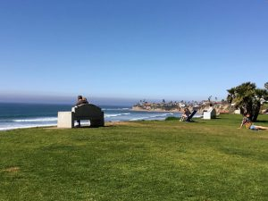 Palisades Park North Pacific Beach bench