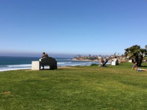 palisades park large grass area ocean view