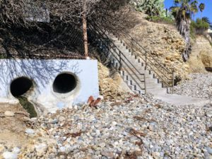 Strom drains linda way beach access