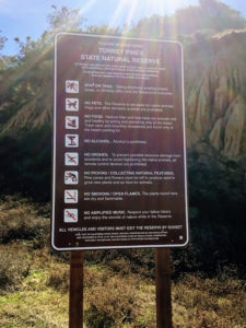 Torrey Pines Information Sign rules regulations