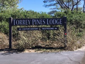 Torrey Pines Lodge Sign