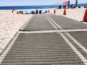 Moonlight Beach Beach Access Mat San Diego Wheelchair