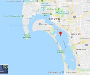 Google Map San Diego Bay