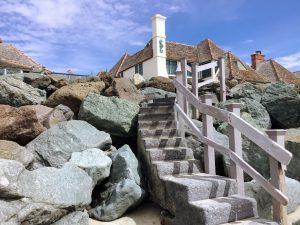 Stairway up to house Saint Malo Beach
