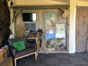 Ranchero Room coyote buffalo skin