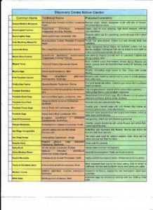 Native Plant Species List Side 2