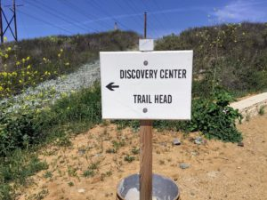Discovery Center Trail Head Sign