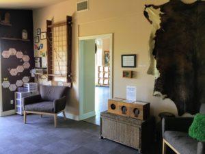 Ranchero Room animal skin on wall