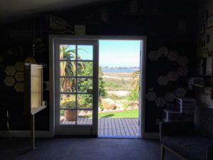 Back door view Agua Hedionda Lagoon Discovery Center