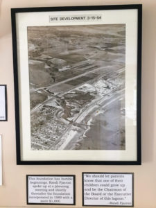 1954 Aerial shot lagoon with information